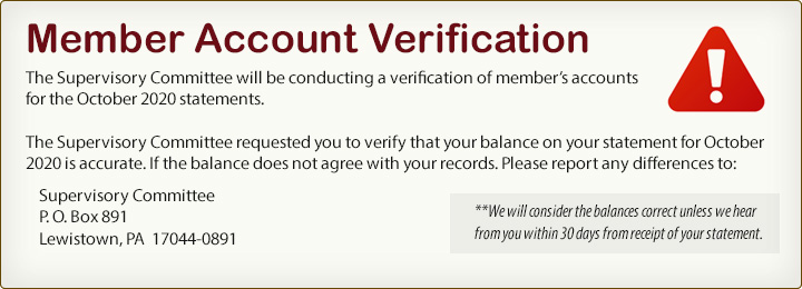 Member Account Verification.